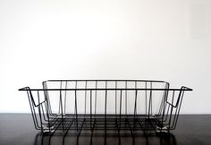 metal wire desk basket