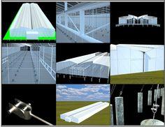 Modelado y renderizado Invernaderos Agrícola Dialenida