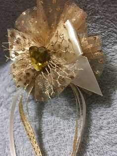Items similar to Handmade Gold Hair Clip, Fishnet Hair Bow on Etsy Gold Hair Bow, Gold Hair Clips, Hair Bows, Heavenly, Polka Dots, Gems, Brooch, Unique Jewelry, Handmade Gifts
