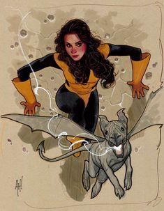 Kitty Pryde & Lockheed - X-men - Commission - Adam Hughes Comic Art