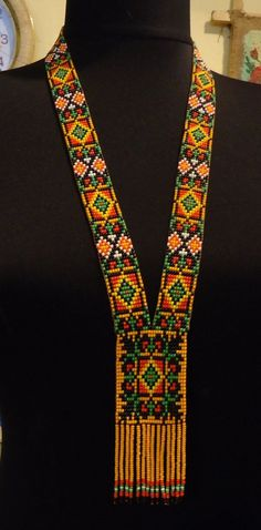 Free Shipping!!! Ukrainian Handmade Jewelry Beaded Necklace ,Gerdan