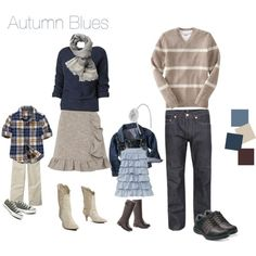 """Autumn Blues"" by oddnumber on Polyvore"