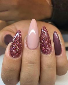 Are you looking for autumn fall nail colors design for this autumn? See our collection full of cute autumn fall nail matte colors design ideas and get inspired! Pink Gel Nails, Gel Nail Colors, Matte Nails, Maroon Nails, Purple And Pink Nails, Acrylic Nails, Burgundy Nails, Colorful Nail Designs, Gel Nail Designs