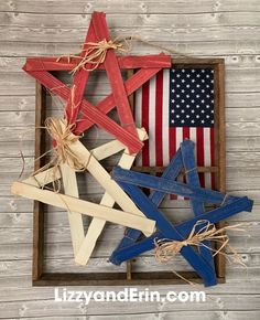 4th July Crafts, Fourth Of July Decor, 4th Of July Decorations, July 4th, Birthday Decorations, Americana Decorations, Paint Stick Crafts, Crafts To Make, Crafts For Kids