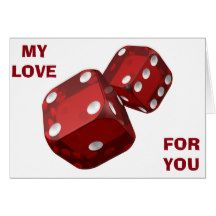 OUR LOVE WAS THE BEST BET I EVER MADE FOR LIFE CARD