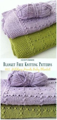 Holding Hands Baby Blanket Knitting Free Pattern - Easy #Blanket; Free #Knitting; Patterns