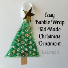Easy Bubble Wrap Kid-Made Christmas Ornament - LalyMom