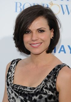 lana parrilla haircuts | Lana Parrilla Layered Bob Hairstyle for Thick Hair