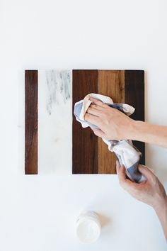 Follow this easy DIY to create your own marble and wood cheese board or tray to use for parties and styling around the house!