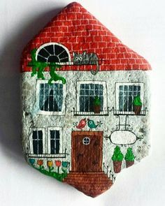 Cottage painted stone...