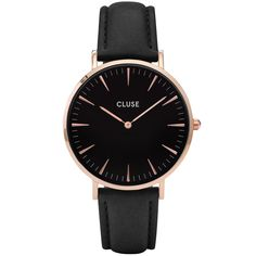 Cluse - Ladies' La Bohème Rose Gold Black/Black Watch CL18001