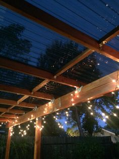 Add more beauty to your backyard, using christmas lights! #follow