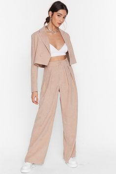 Woman's World Corduroy Wide-Leg Pants - Trousers Women Outfit, Trouser Outfits, Trousers Fashion, Co Ords Outfits, Mode Outfits, Classy Outfits, Chic Outfits, Fashion Outfits, Suit Fashion