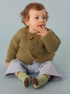Wee Pocketed Cardigan in Lion Brand Vanna's Choice - 60698A