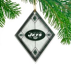 New York Jets Art Glass Ornament- - $8.99