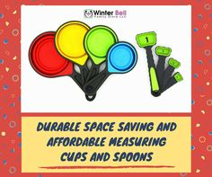 Most bakers love it when their kitchen tools are easily organized...  Fortunately, these collapsible measuring cups and spoons have made their wish  come true! https://www.amazon.com/dp/B06XC5VTLK