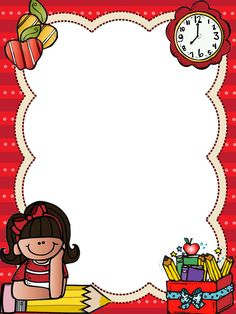 Borders For Paper, Borders And Frames, School Border, Boarder Designs, School Frame, School Labels, School Clipart, Page Borders, Flower Phone Wallpaper