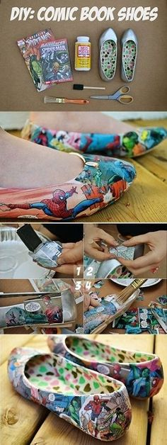 Comic Book Shoes – DIY