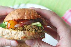 Hearty Lentil and Brown Rice Burger