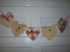 Tattered and Torn Hearts by 4theluvofprimitives on Etsy, $10.00