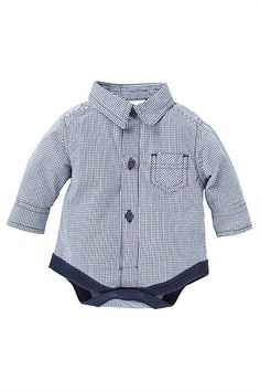 Newborn Clothing - Baby Clothes and Infantwear - Next Gingham BodyShirt