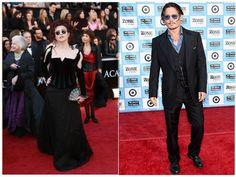Estilo Dramático (estilo teatral, visual exagerado)  Personalidades: Helena Bonham Carter e Johnny Depp #trendfall2015 #unatrend2015 #teatral #exagerado #dramatico #estilosAICI