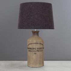 Sainsburys Hare Lamp With Ochre Shade Woodland Walk