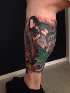 Japanese mythical tattoo
