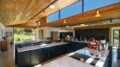 The kitchen is large enough for entertaining on a grand scale.