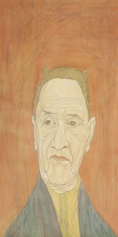 Austin Osman Spare (1888-1956), Psychic portrait, pencil and watercolour, 20 x 10 in. (50.8 x 25.4 cm.)
