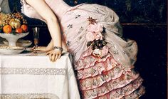 "4shotsofvodka: ""  Auguste Toulmouche - The kiss (detail) """