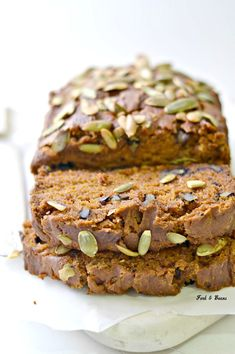 Pumpkin Bread that happens to be gluten, egg, and dairy free.
