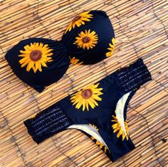 sunflower bandeau bikini brazilian hand made nani bikini swimwuit
