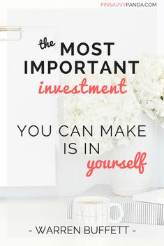 most important investment is yourself / warren buffett / quit your job how to / what to do if you hate your job but can't quit