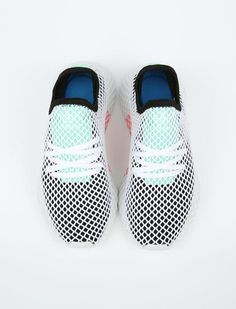 best loved d6d9c 221a4 Adidas Deerupt Runner - Core BlackEasy GreenFtwr White