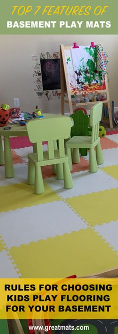Greatmats teaches you how to choose flooring for kids playrooms, including basement play areas.