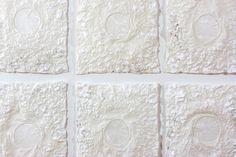 In Silence, 2013: handmade paper (abaca fibre, cotton rag) 122 cm x 213 cm x 2.5 cm / 4 ft x 7 ft x 1 in.