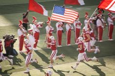 The beginning of the tunnel walk, it's a Nebraska football game, even if you're not a Husker fan the tunnel walk gives you goosebumps if you are in Memorial Stadium in Lincoln.