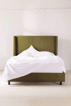 Shop Winona Wingback Bed at Urban Outfitters today. We carry all the latest styles, colors and brands for you to choose from right here. Bed Frame And Headboard, Headboards For Beds, Bed Frames, Apartment Furniture, Bedroom Furniture, Apartment Ideas, Bedroom Decor, Flat Sheets, Bed Sheets