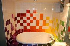 Unique Home Space Inspirations colorful Bathroom