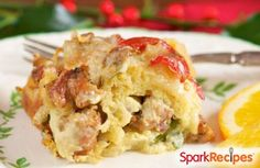 This simple, filling casserole is certain to be your new favorite breakfast. You can also turn it into mini muffins. via @SparkPeople