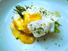 Poached Egg with Roasted Asparagus, Ricotta, and Sprouted Whole Grain Toast | Downtown Epicure