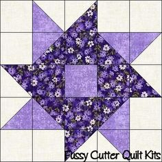 Scrappy Fabric Whirlygig Pinwheel Easy Patchwork Pre-Cut Quilt Blocks Squares To Fussy Cutter Quilt Kits