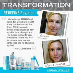 Rodan and Fields, the dermatologist that gave you Proactiv,  now have Redifine Regimen for pore size, Loss of Firmness sheilastewartsc.myrandf.com