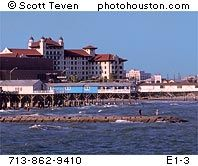hotel galvez and seawall boulevard in Galveston Texas