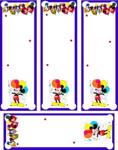Mickey Bookmarks Mouse Bookmarks Free Printable Ideas From