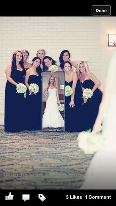 Cute picture with the bridesmaids :)