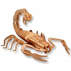3-D Wooden Puzzle - Scorpion