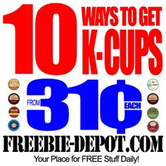 10 Ways to get Cheap K-Cups – 31¢ or less with NEW Sale prices added for Office Depot through 12/31/13