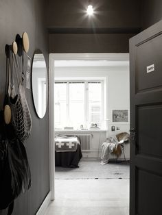 I wonder if I will ever find a client who will allow me to choose black for their walls... I love how dramatic this is. <3